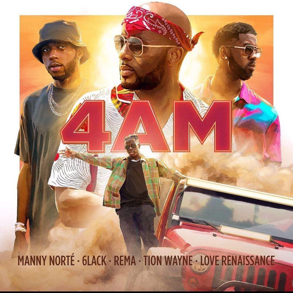 4AM song by Rema, Manny Norte, 6lack, Tion Wayne & Love Renaissance