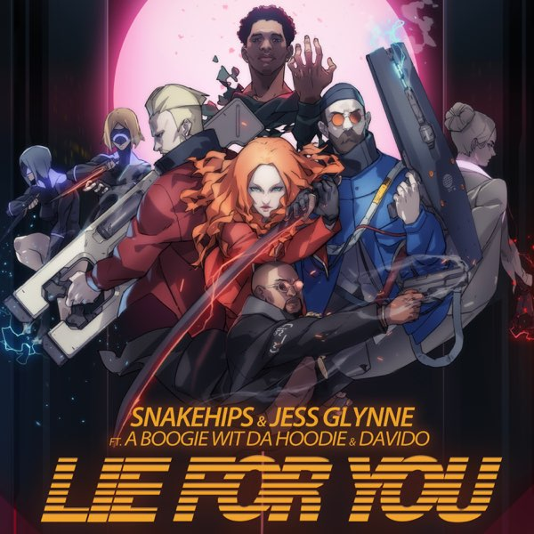 Snakehips and Jess Glynne Lie For You art