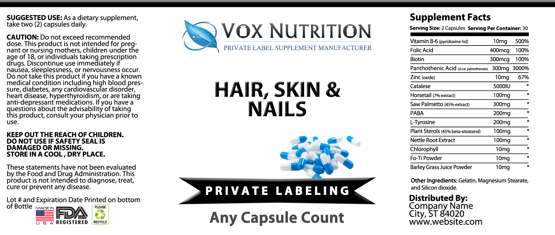 Private Label Hair Skin And Nails