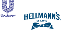 This is an image of the Unilever and Hellman's brand logos.
