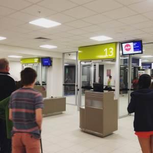 salle d'embarquement - aéroport de Darwin