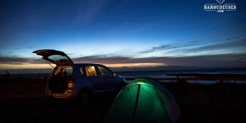 Camping - tente éclairée - Nouvelle-Zélande