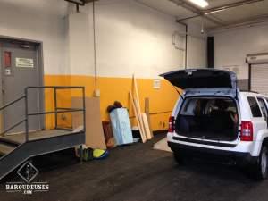Aménagement de la Jeep - Satellite Storage - Montréal