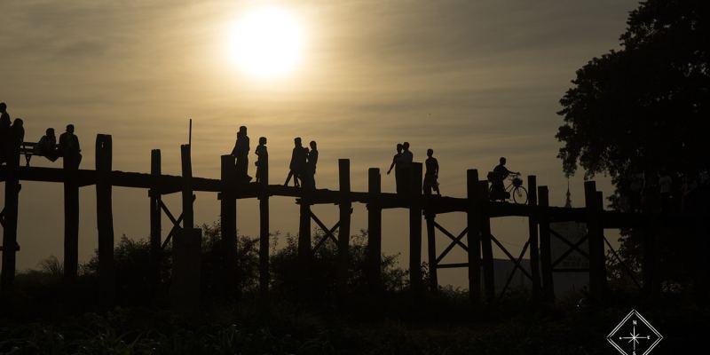 Pont U bein_coucher de soleil - Amarapura