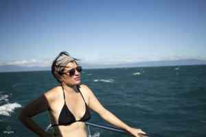 Mumu à bord du catamaran - Cairns