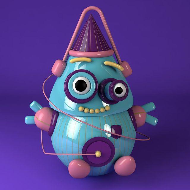 Une création de Clem qui peut se faire en mode digital nomad quand on est character designer.