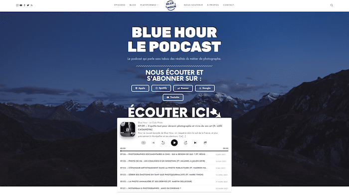 Blue hour, le podcast de référence pour les photographe de Johan Lolos