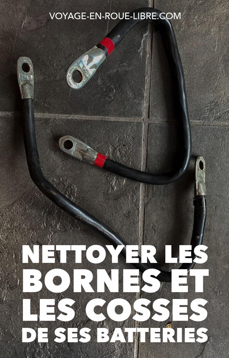 As-tu observé des dépôts verdâtres ou blanchâtres au niveau de tes batteries?  Car c'est plutôt mauvais.  À terme, les dépôts et l'oxydation peuvent empêcher l'électricité de passer (donc de démarrer ton véhicule, par ex.) et empêcher la batterie de fonctionner, de se charger, etc.  Il faut alors nettoyer les bornes de tes batteries et les cosses...  #vanlife #skoolie #diy #vanconversion #conversion #roadtrip #van