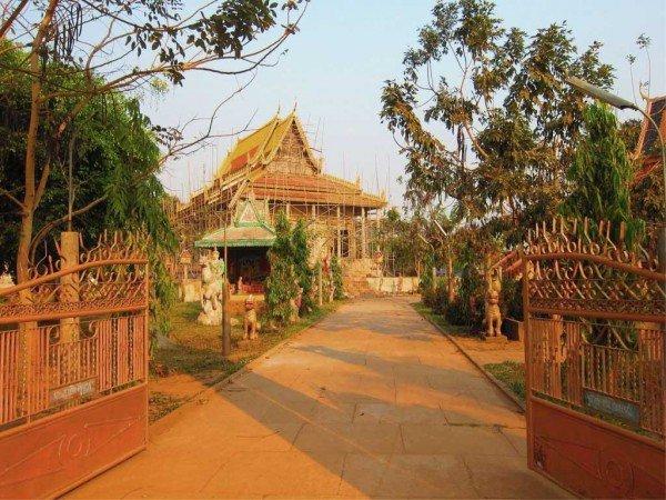 Temple près de Kompong Cham, Cambodge