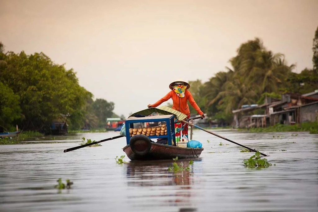 Marché flottant, Soc Trang, Vietnam