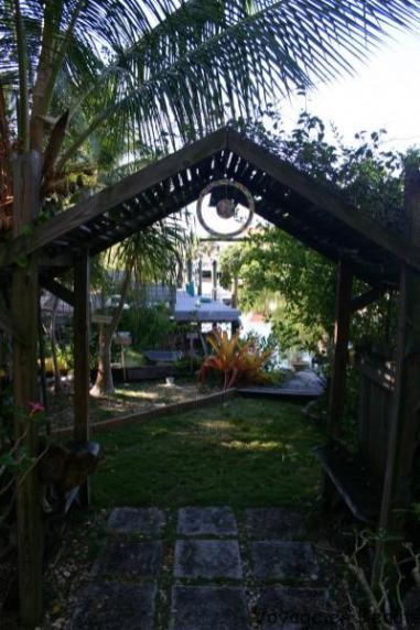 Jardin location Airbnb Key Largo par voyage en beauté