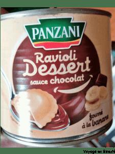 Ravioli Panzani Banane Chocolat !