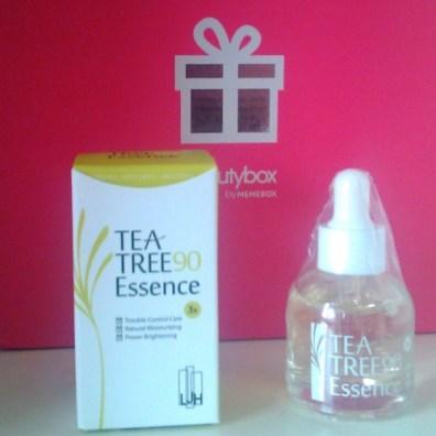 Tea tree 90 essence soin memebox beautybox coréenne asiatique voyage en beauté