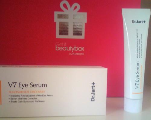 Eye serum V7 Dr Jart+ contour des yeux memebox beautybox coréenne asiatique voyage en beauté