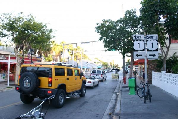 Point de départ et d'arrivée de la Route US1 au Mile 0 à Key West