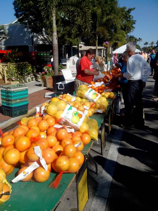 Ornages de Floride Farmers Market Naples