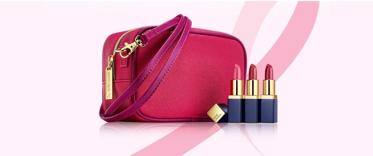 Estee-Lauder-Coffret-Evelyn-Lauder-and-Elizabeth-Hurley-Dream-Pink-Collection-ruban-rose-octobre