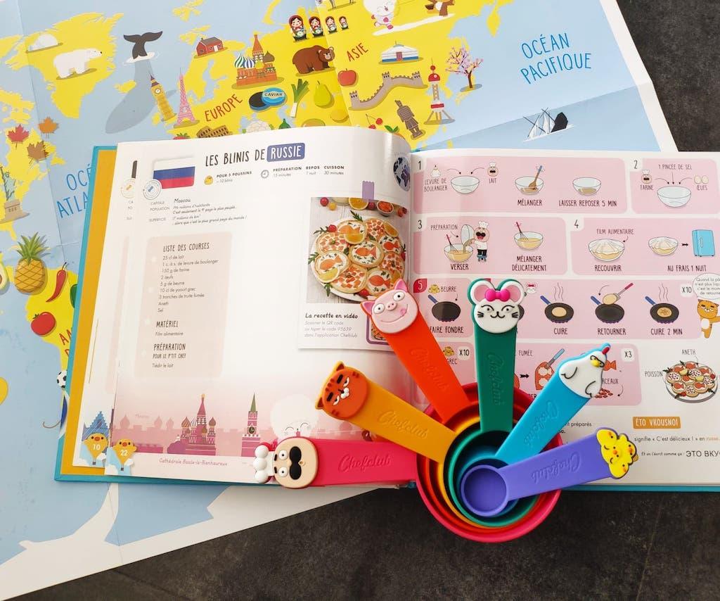 avis chefclub kids coffret livre recettes du monde pour enfant + cuillères doseuses