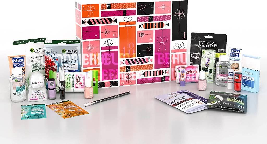 Le Calendrier de l'Avent L'Oréal Paris 2021 maquillage et soins pour le visage : unboxing, contenu, prix, code promo, avis...