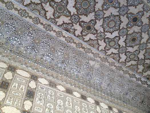 amer fort mirrored ceiling