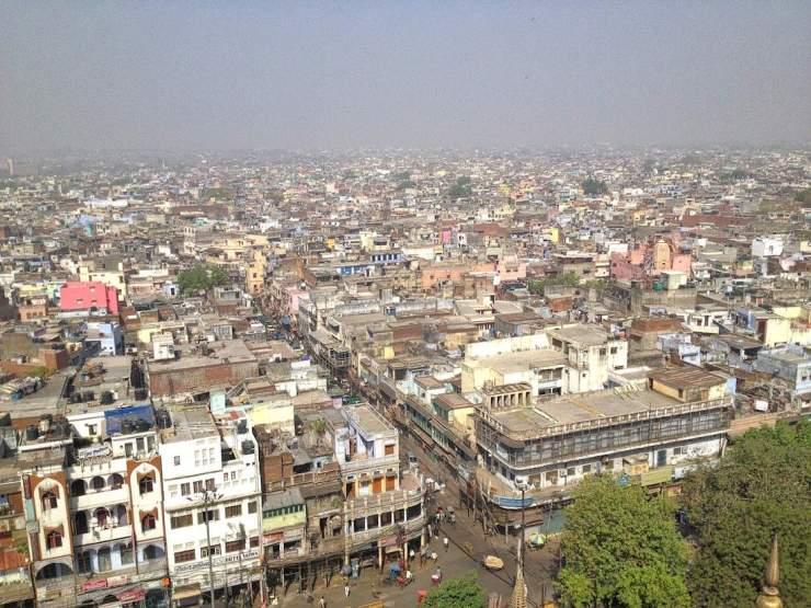 new delhi streetscape