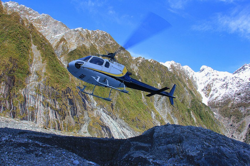 Landin on the Franz Josef Glacier, South Island, New Zealand - Taken by Diann Corbett, 09/2014.