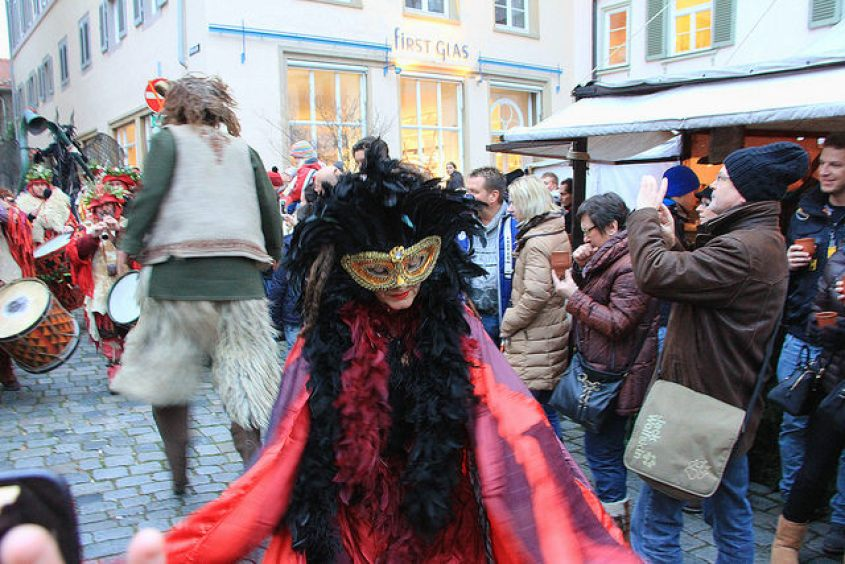 Parade at a medieval themed Christmas Market in Esslingen, Germany, 12/2014, taken by Diann Corbett.