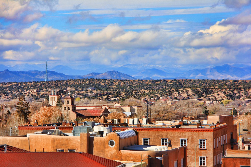 Sante Fe from La Fonda Hotel, NM - taken by Diann Corbett