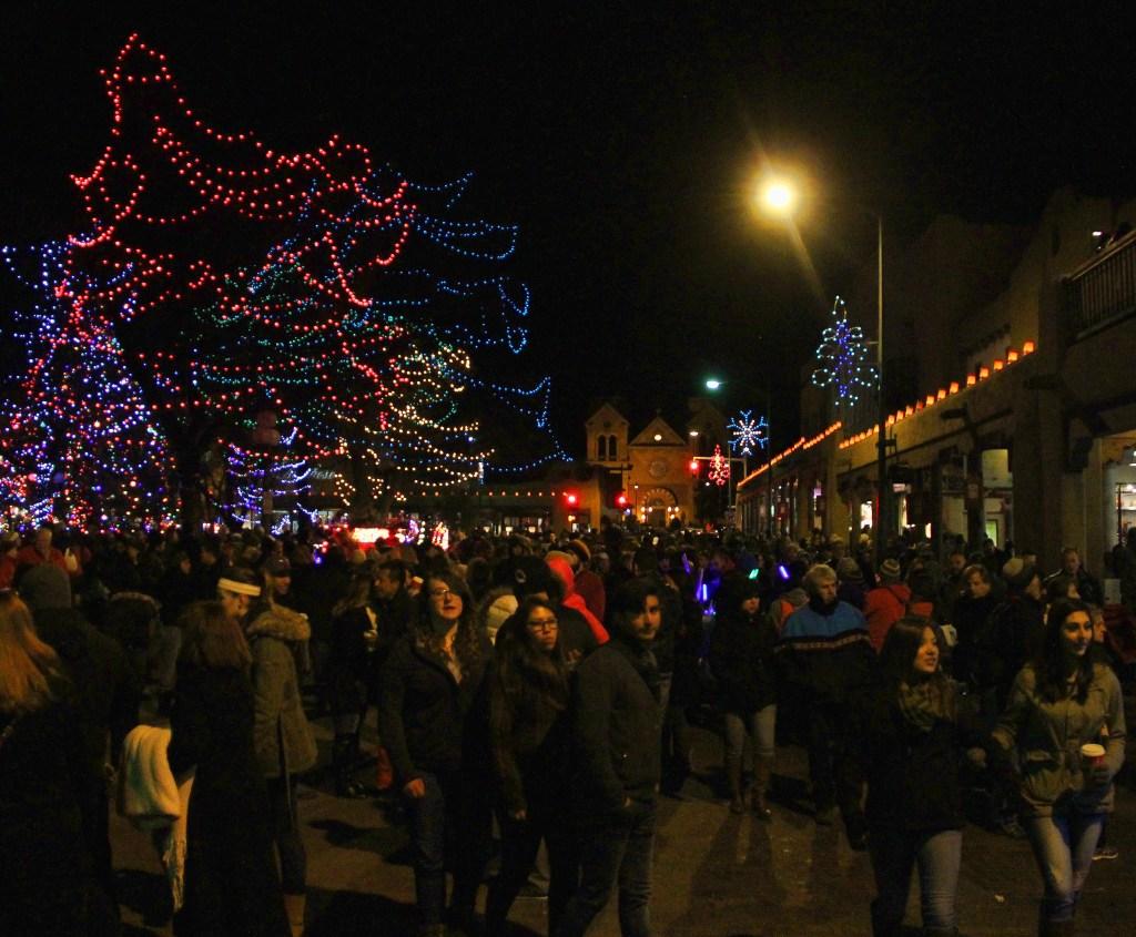 Tree Lighting, Sante Fe Plaza, NM - Taken by Diann Corbett