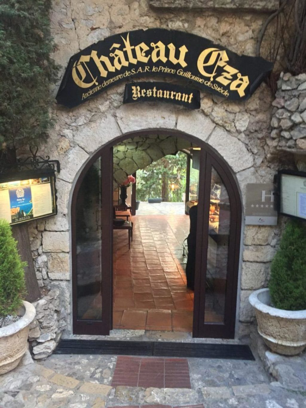 Entrance, Chateau Eza in Eze. Excellent food & spectacular views.