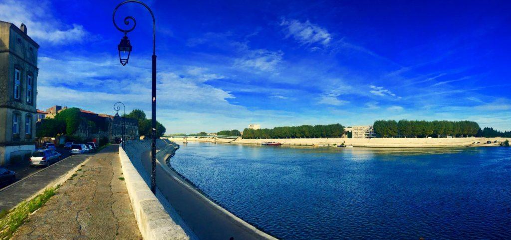 Rhone River in Arles