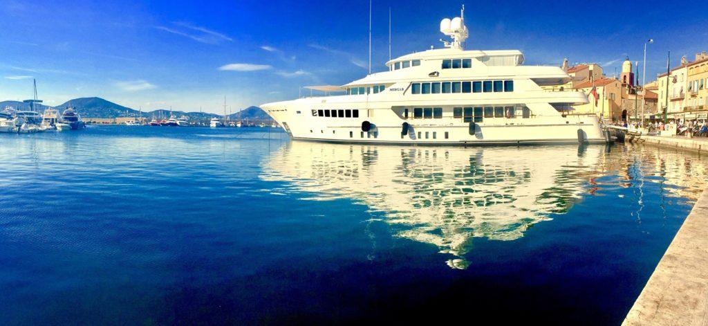 Yacht in St Tropez, France