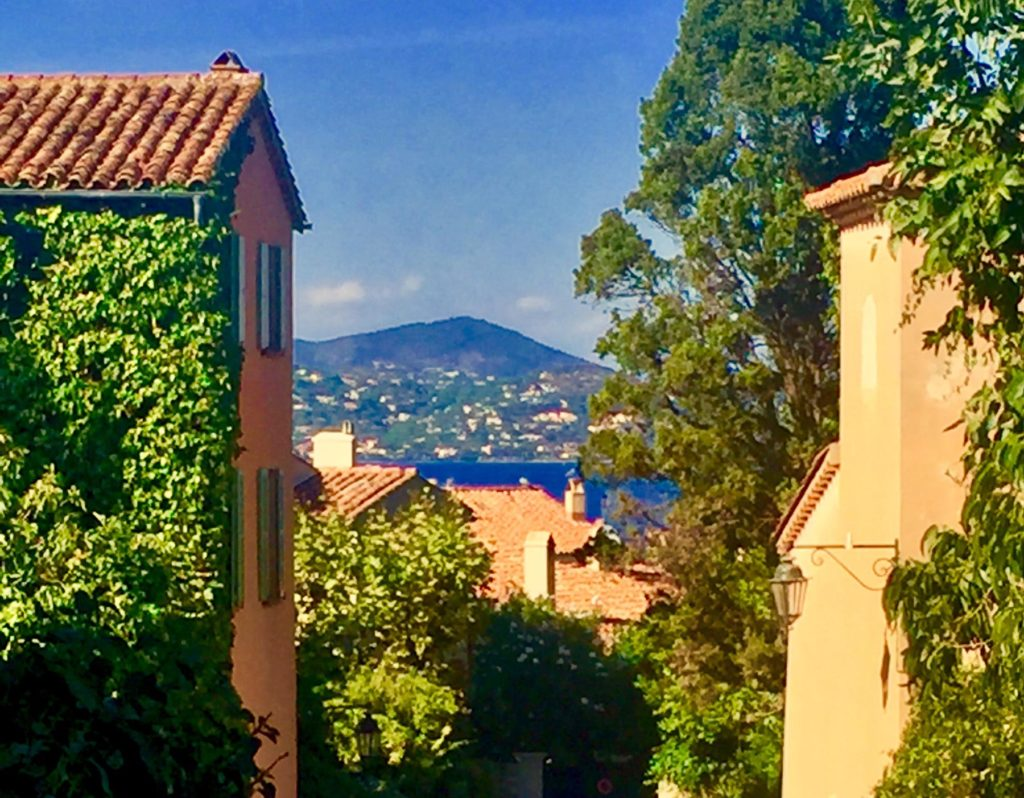 View from street in St Tropez, France