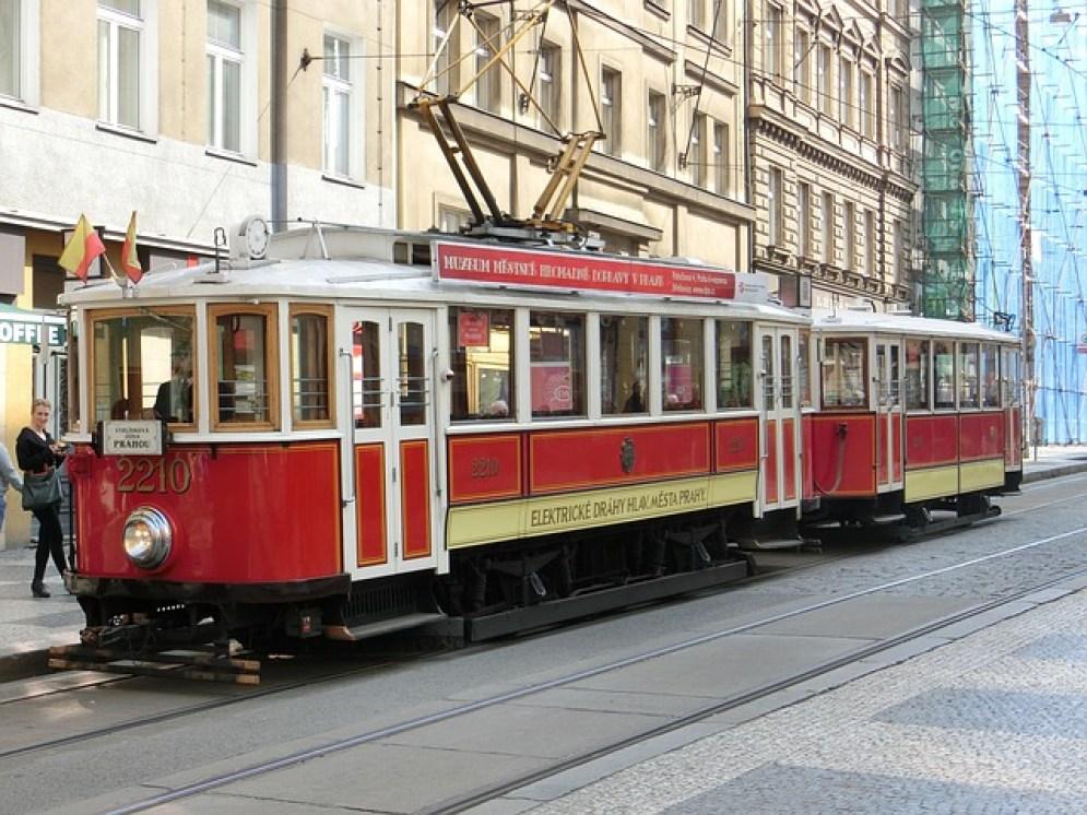 tramway à Prague
