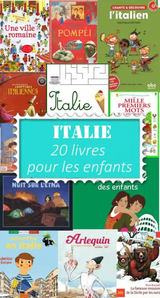 italie pour les enfants en livres