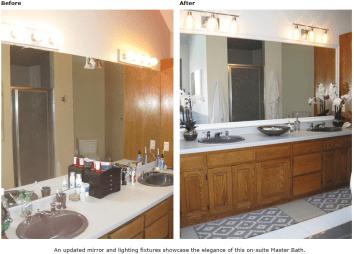Bathroom straightened