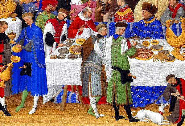 Contrairement à l'idée reçue, les médiévaux ne sont pas des sauvages à table, et c'est même à la fin du Moyen-Âge que nous voyons apparaître les premiers traités de civilités ou de contenances de table, contenant les règles à respecter pour ne pas se comporter en « vilain » à table.