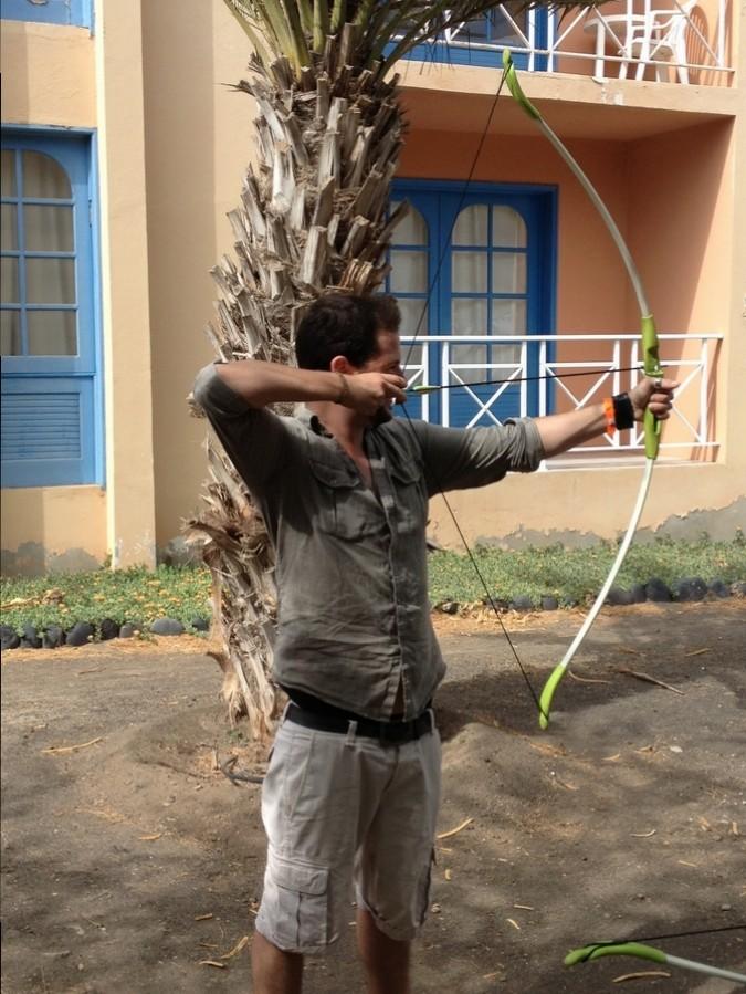 Séb fait du tir à l'arc - Hôtel Foya Branca, São Vicente, Cap-Vert