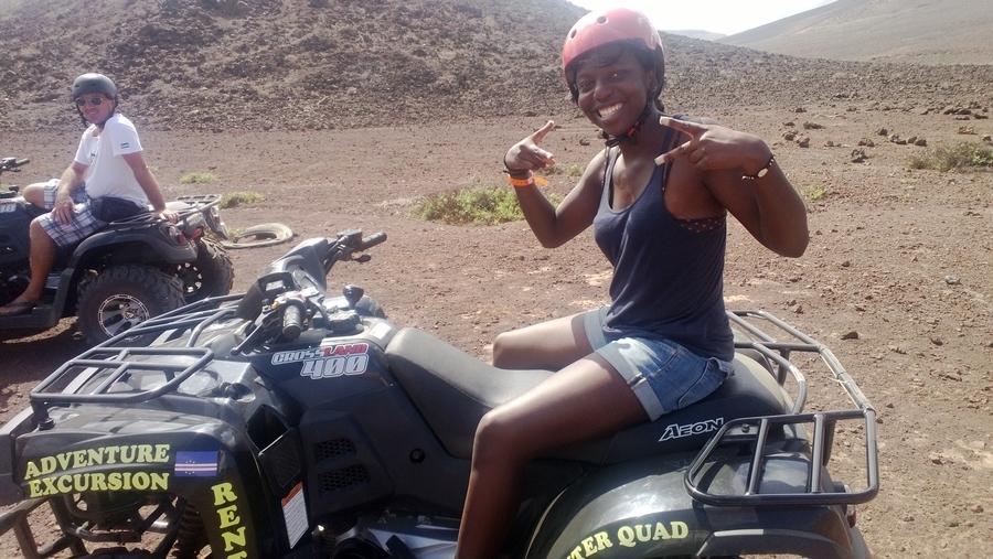 Nath on the quad - São Vicente, Cape Verde