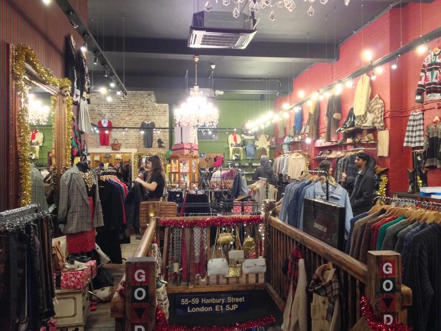 Blitz thrift shop in Brick Lane - London, England