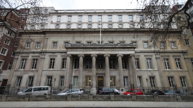 Façade du Hunterian museum - Londres, Angleterre
