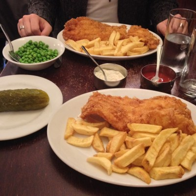 A good fish'n'chips at the Golden Hind - London, England
