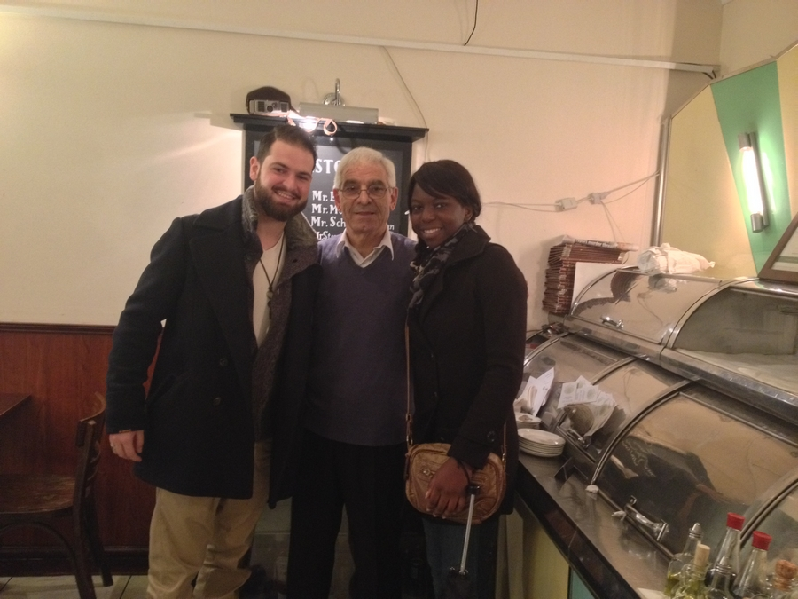 With Antonio Christou, the owner of the Golden Hind - London, England