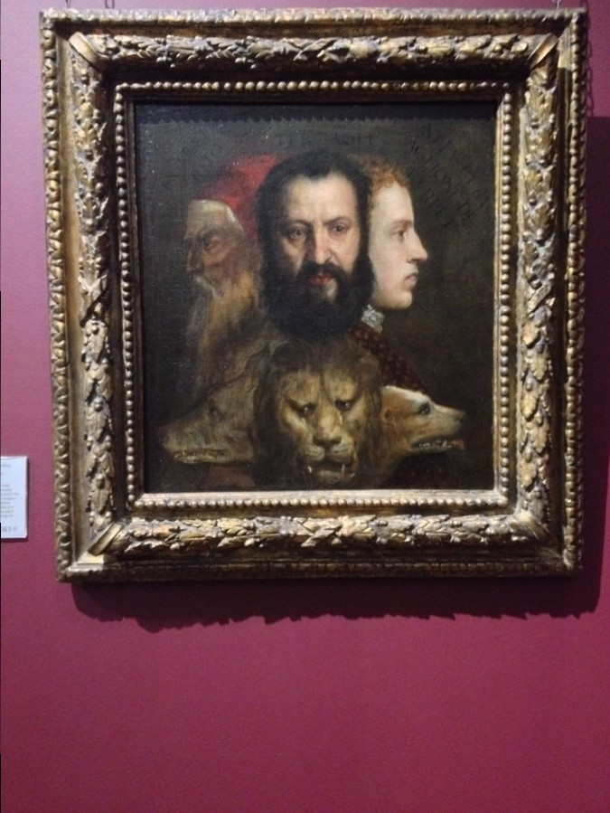 """An allegory of Prudence"" by Titian - National Gallery, London, England"