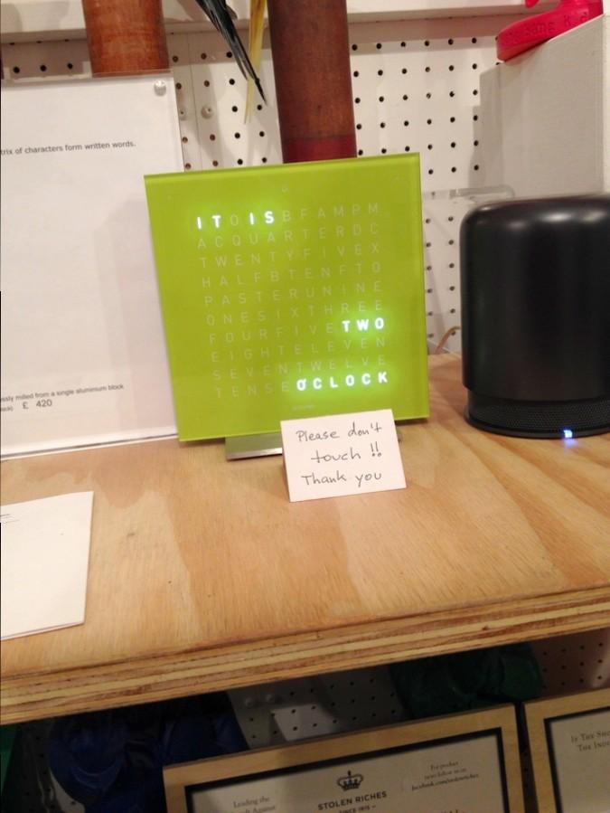 Une horloge digitale - GiftBox, Londres, Angleterre