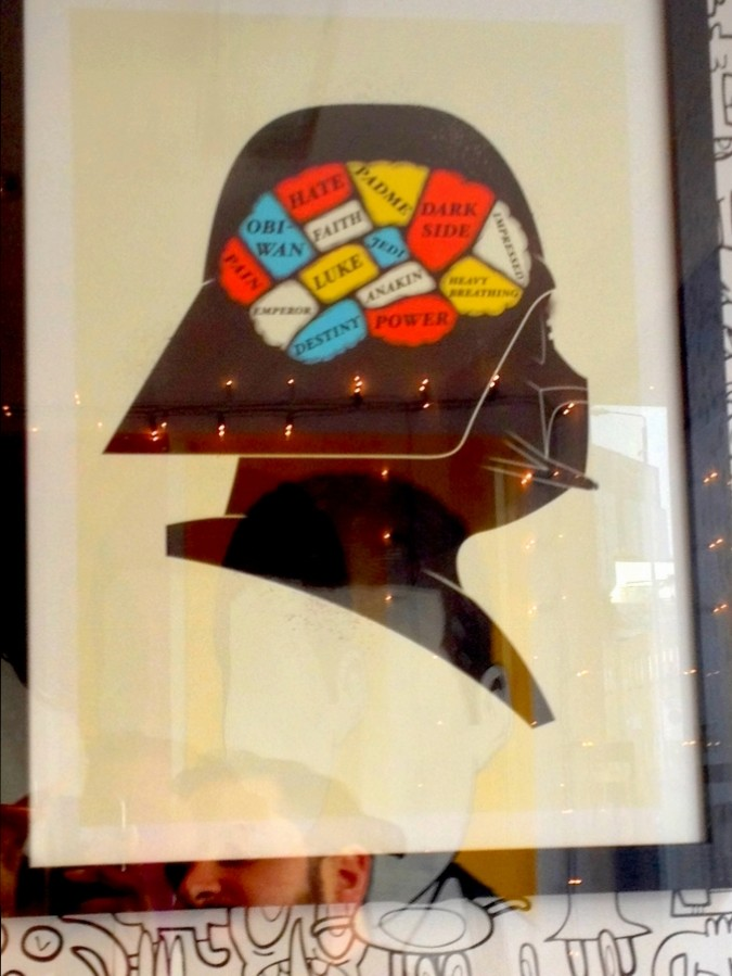 Darth Vader frame at GiftBox - London, England