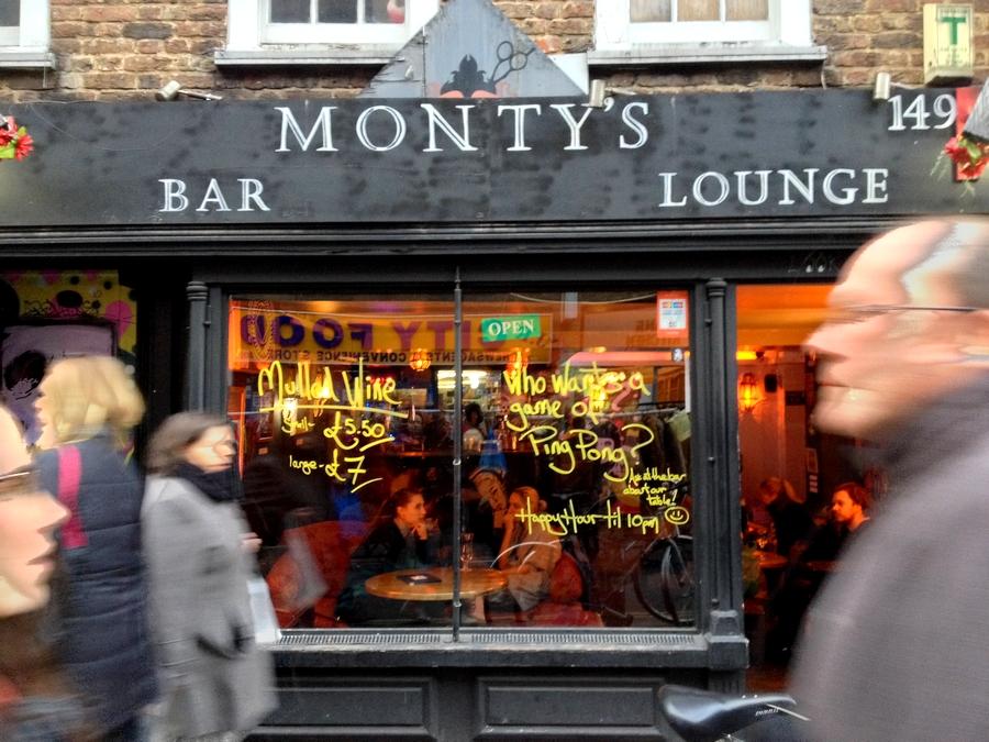 Monty's bar - Londres, Angleterre