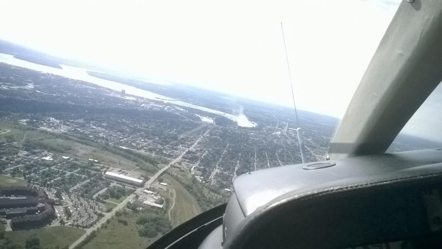 La ville de Niagara depuis l'helicoptère - Canada