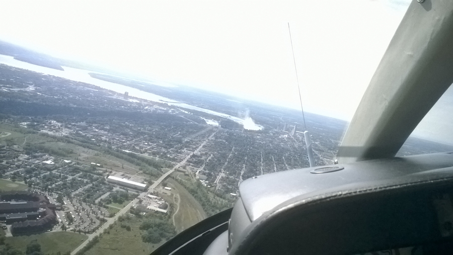 Helicopter view of Niagara city - Canada