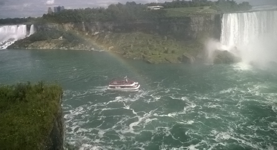 Arc-en-ciel aux chutes du Niagara - Canada